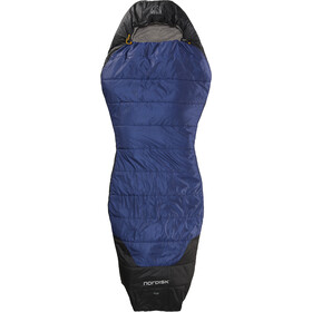 Nordisk Puk +10° Curve Slaapzak L, blauw/zwart